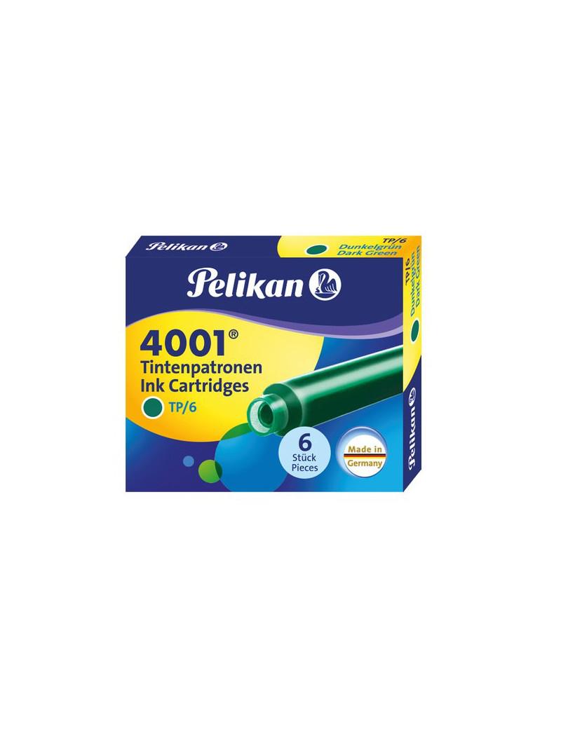 Cartucce per Stilografiche 4001 TP/6 Pelikan - Verde (Conf. 6)