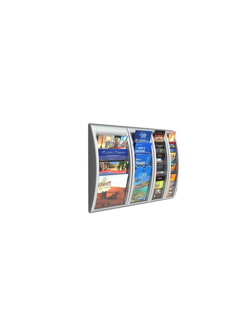 Modulo a 4 Tasche per Espositori da Muro Quick Fit System Paperflow - A4 - 40,9x9,5x65 cm