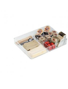 Organizer Cassetto 6 Scomparti Coffee Point Durable - 7,9x7,9x10 cm