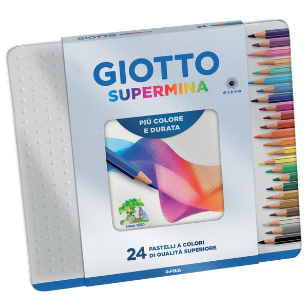 Pastelli-Supermina-Giotto-Fila-3-8-mm-236800-Assortiti-Conf-24