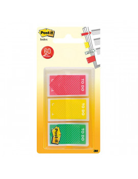 Segnapagina Post-it Index Medium To Do - Rosso, Giallo, Verde (Conf. 3)