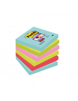 Post-it Super Sticky Miami - Assortiti a Tema Miami - 76x76 mm (Conf. 6)