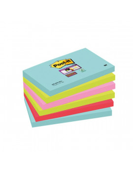 Post-it Super Sticky Miami - Assortiti a Tema Miami - 76x127 mm (Conf. 6)