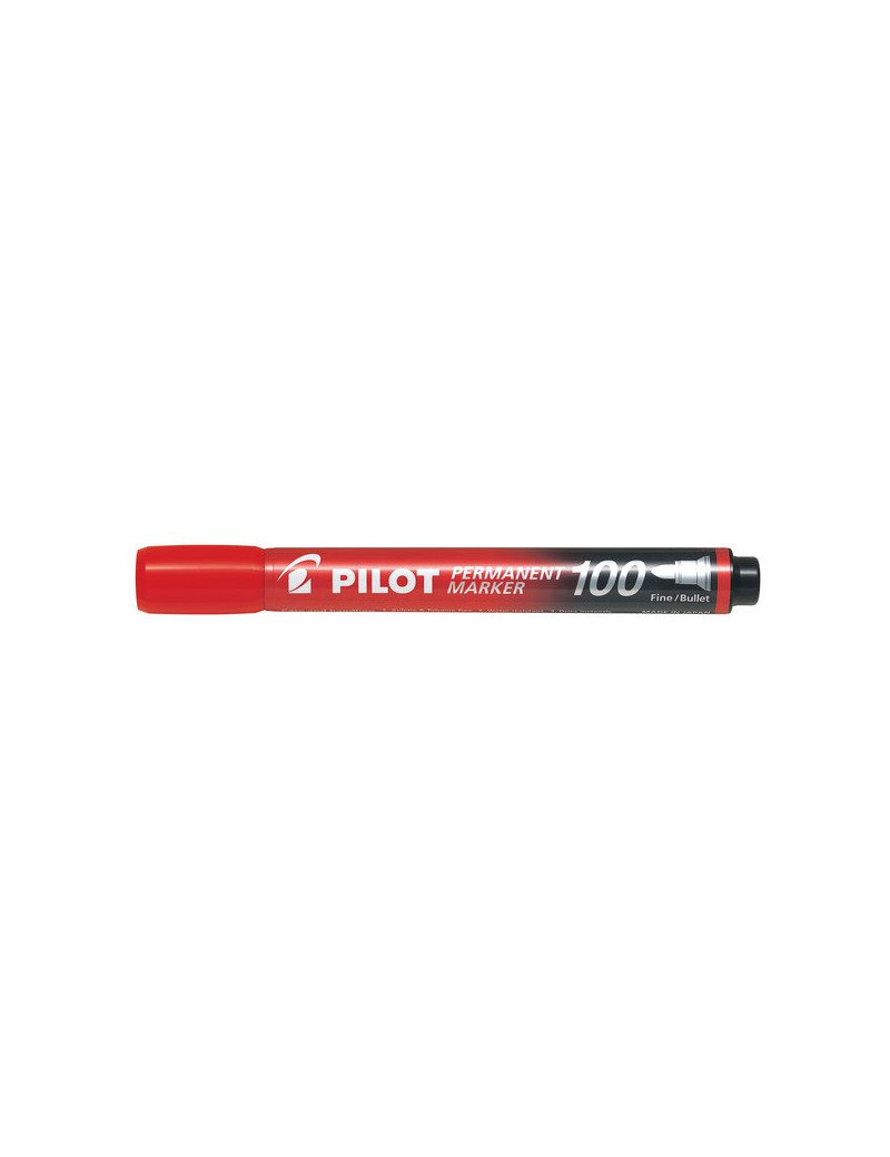 Marcatore Permanente SCA 100 Pilot - Punta Tonda - 1 mm - Rosso (Conf. 12)