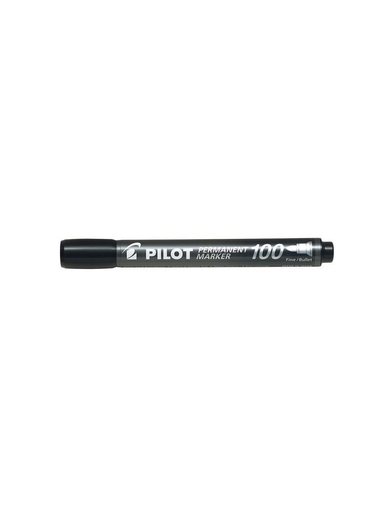 Marcatore Permanente SCA 100 Pilot - Punta Tonda - 1 mm - Nero (Conf. 12)