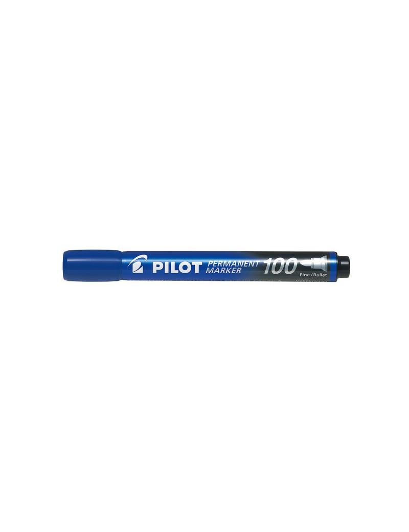 Marcatore Permanente SCA 100 Pilot - Punta Tonda - 1 mm - Blu (Conf. 12)