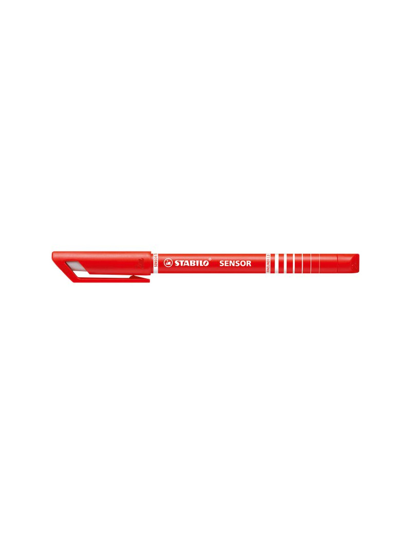 Fineliner Sensor Stabilo - Rosso (Conf. 10)