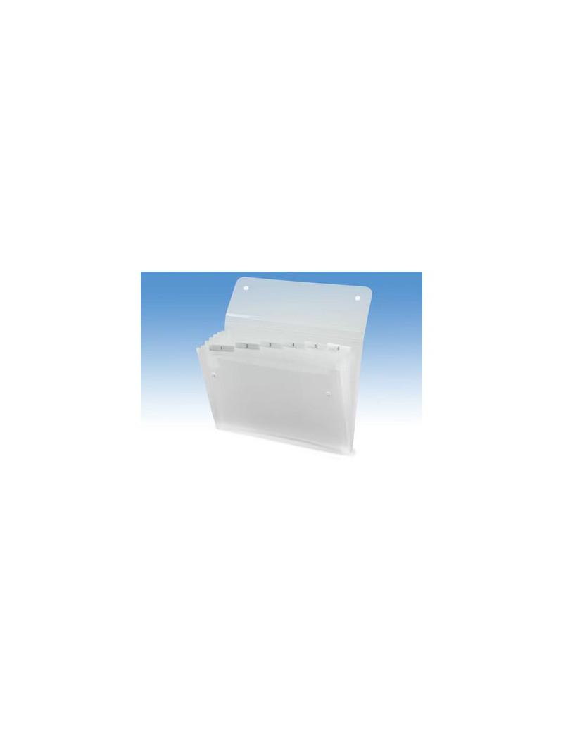 Archiviatore a Soffietto Ice Rexel - 6 Tasche - 2102033 (Bianco)