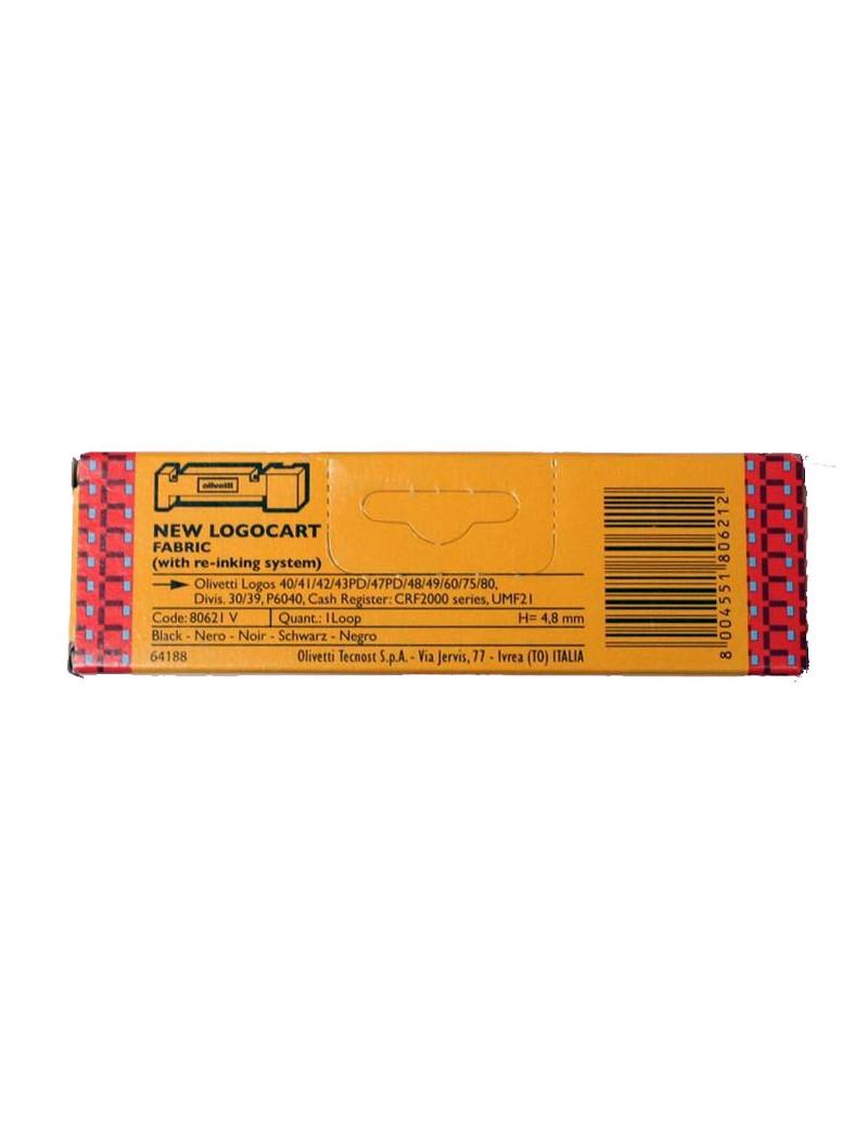 Nastro Originale Olivetti 80621 LOGOCART 40 (Nero)