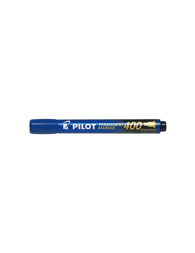 Marcatore Permanente SCA 400 Pilot - Punta a Scalpello - 4 mm - Blu (Conf. 12)
