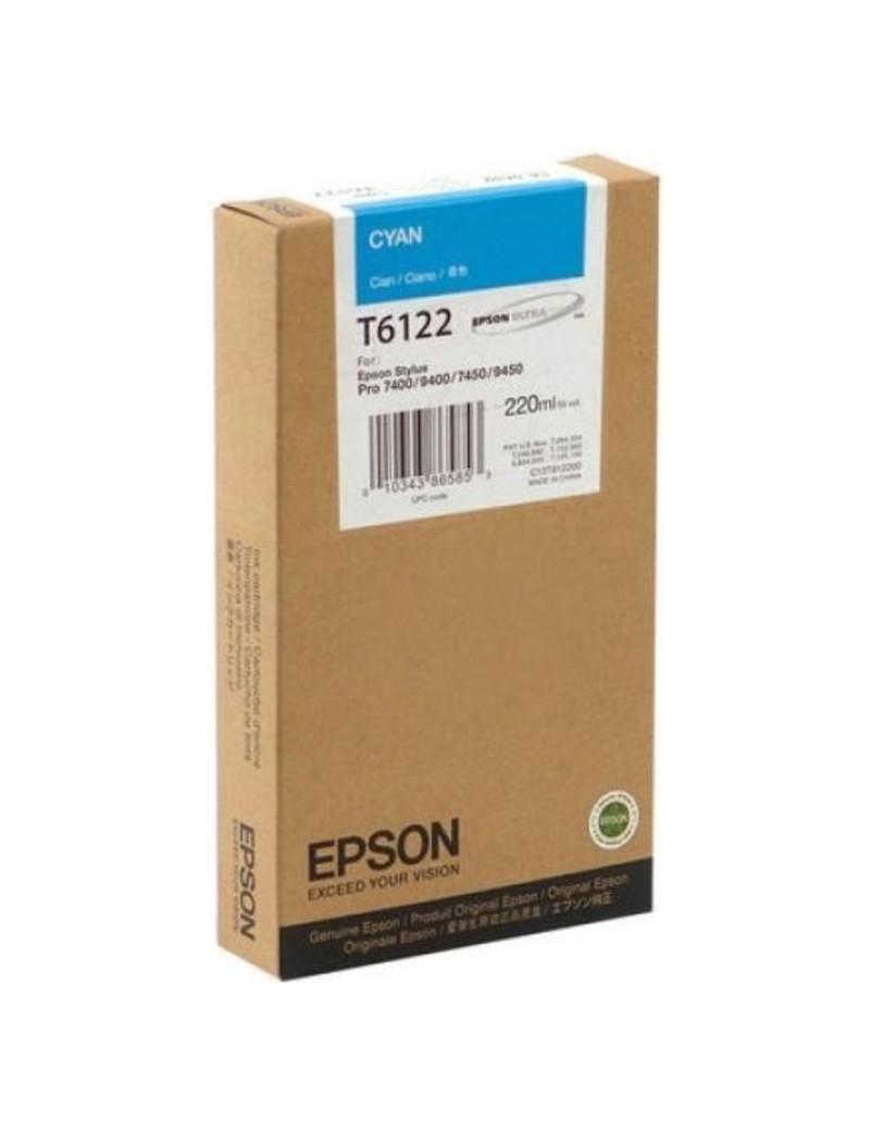 Cartuccia Originale Epson T612200 (Ciano 220 ml)