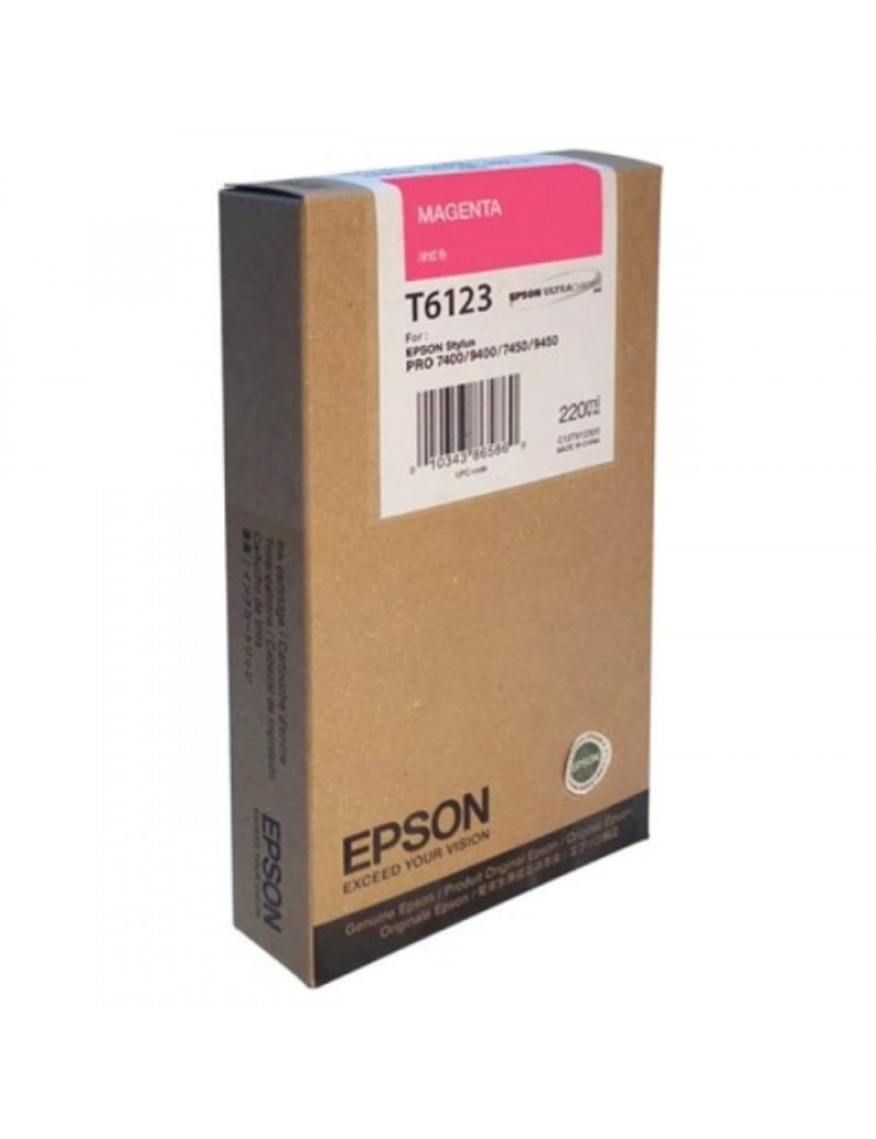 Cartuccia Originale Epson T612300 (Magenta 220 ml)