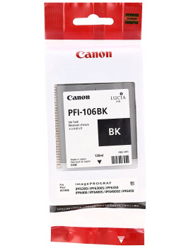 Cartuccia Originale Canon PFI-106bk 6621B001 (Nero 130 ml)
