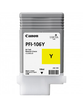 Cartuccia Originale Canon PFI-106y 6624B001 (Giallo 130 ml)