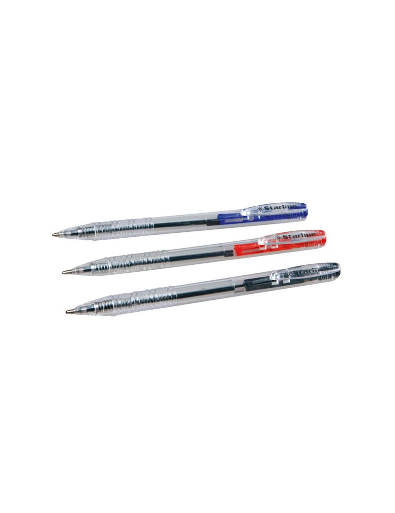 Penna a Sfera a Scatto Starline - 1 mm - Nero (Conf. 20)