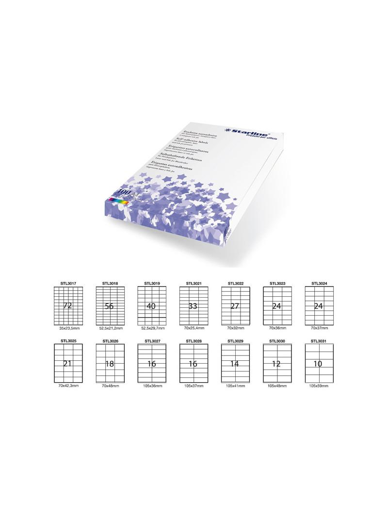 Etichette Adesive Starline - 52,5x21,2 mm - Bianco