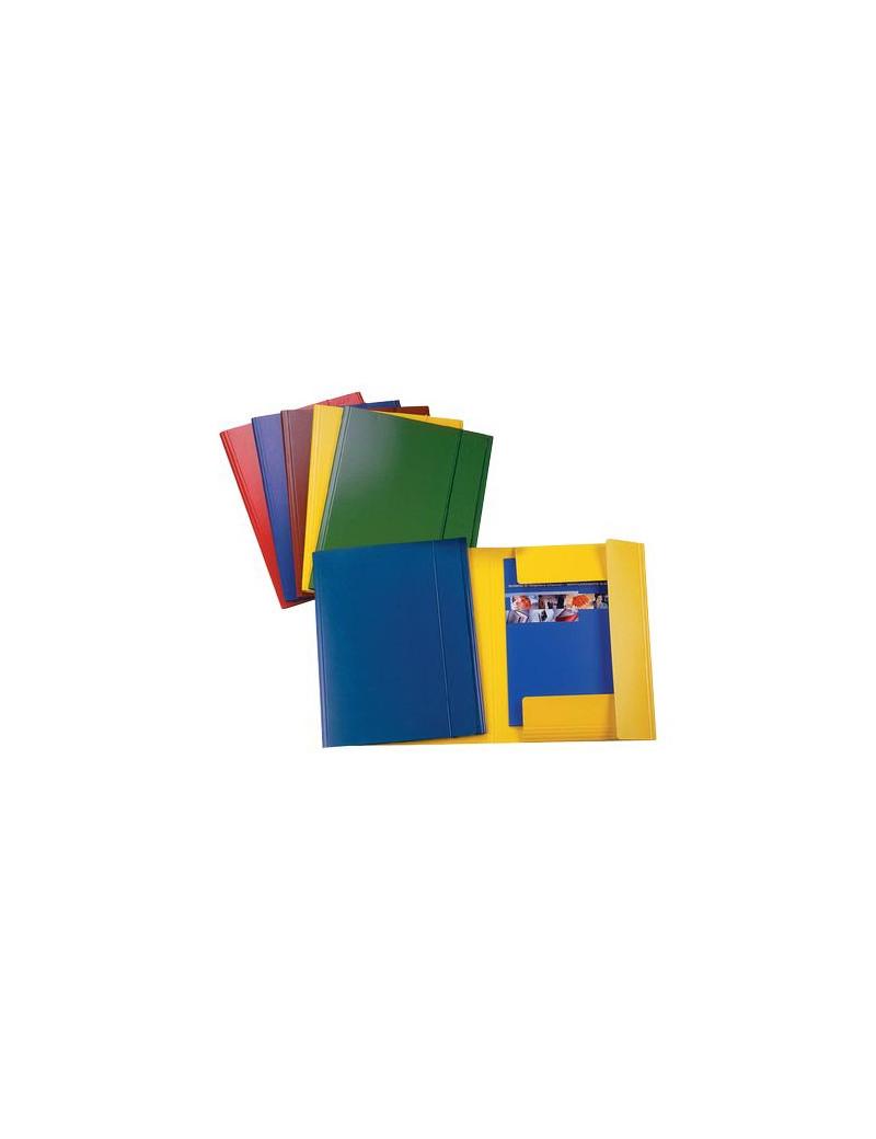 Cartella 3 Lembi con Elastico in Presspan Esselte - 390342050 (Blu Conf. 5)
