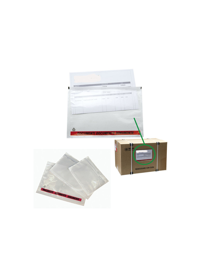 Buste Portadocumenti Adesive Starline - 310x220 mm (Conf. 100)