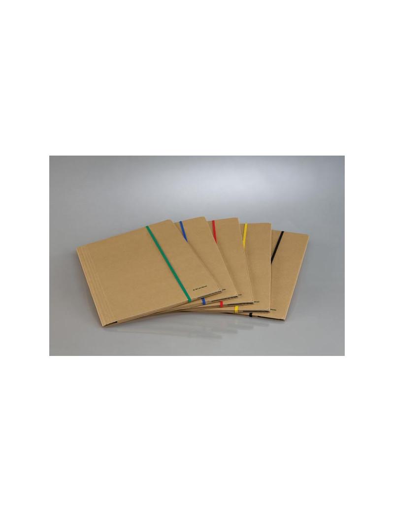 Cartellina 3 Lembi con Elastico Piatto Starline - Dorso 4 - 25x35 cm - Avana