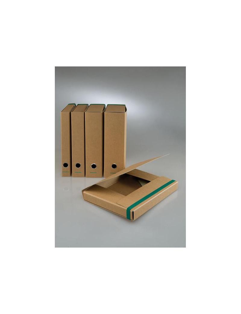 Cartella Progetto con Elastico Starline - Dorso 4 - 25x35 cm - Avana