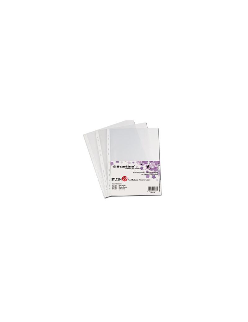 Busta a Perforazione Universale Starline - 22x30 cm - Goffrata Basso Spessore (Trasparente Conf. 50)