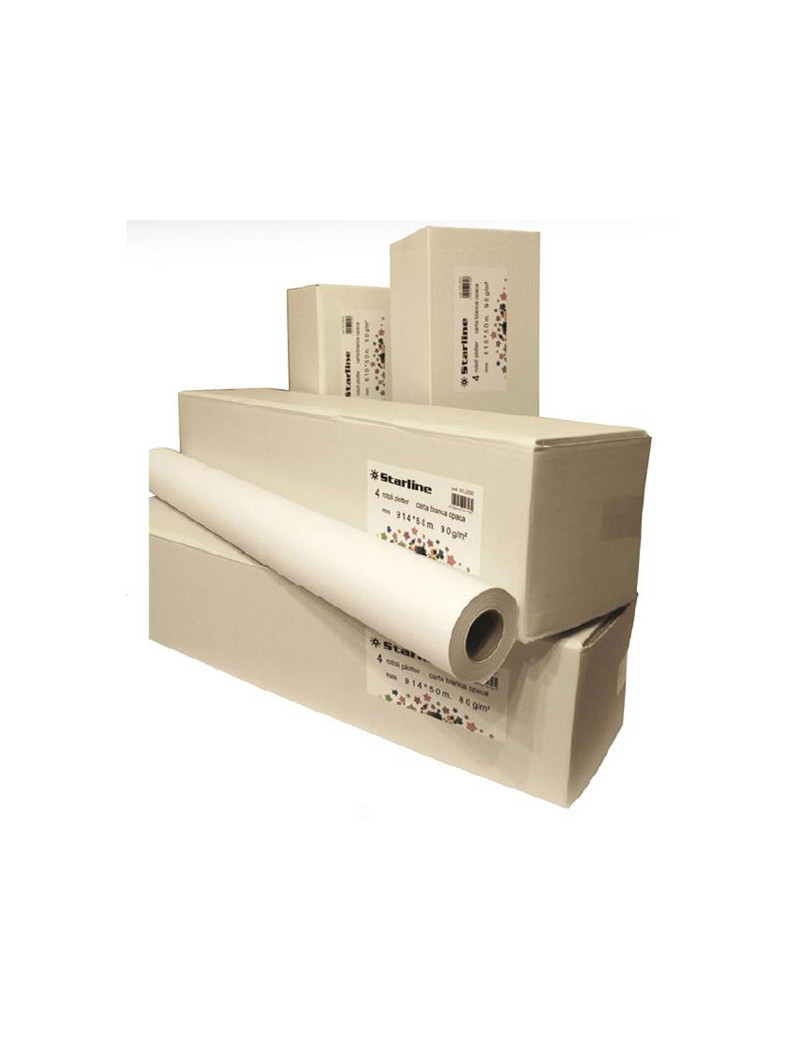 Carta Plotter Starline - 1067 mm x 50 m - 90 g - Inkjet (Conf. 4)