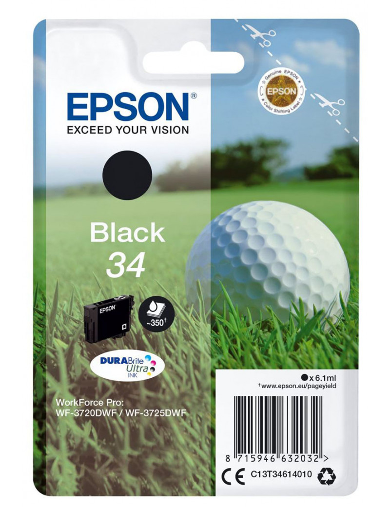 Cartuccia Originale Epson T346140 (Nero 350 pagine)