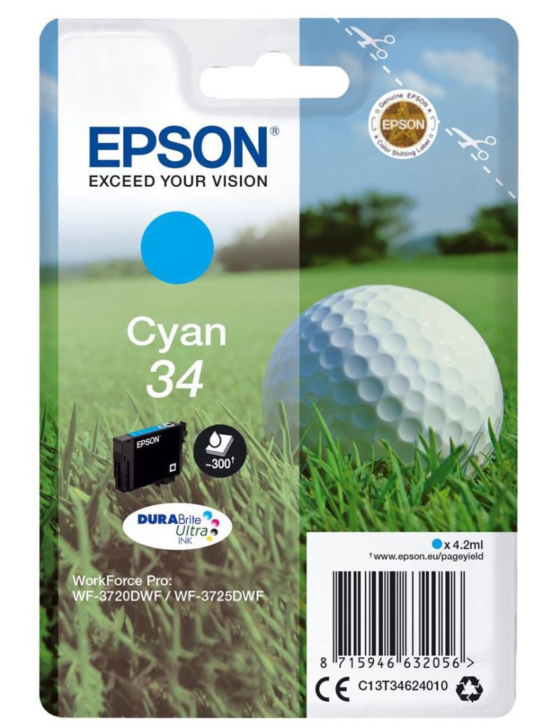Cartuccia Originale Epson T346240 (Ciano 300 pagine)