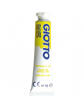Tubetto Tempera Giotto - 12 ml - Giallo Limone (Conf. 6)