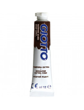 Tubetto Tempera Giotto - 12 ml - Marrone Scuro (Conf. 6)