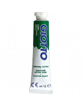 Tubetto Tempera Giotto - 12 ml - Verde Brillante (Conf. 6)