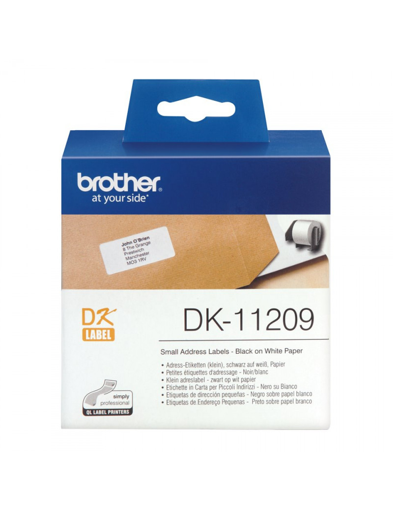 Etichette Adesive Brother DK-11209 - 29x62 mm (Conf. 800)