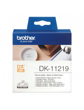 Etichette Adesive Brother DK-11219 - Ø12 mm (Conf. 1200)