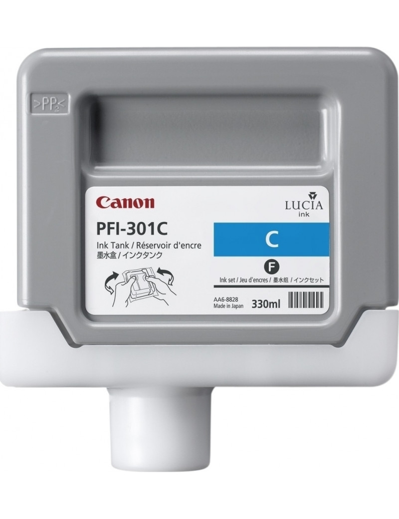 Cartuccia Originale Canon PFI-301c 1487B001 (Ciano 330 ml)