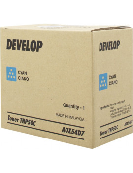 Toner Originale Develop TNP50C A0X54D7 (Ciano 5000 pagine)