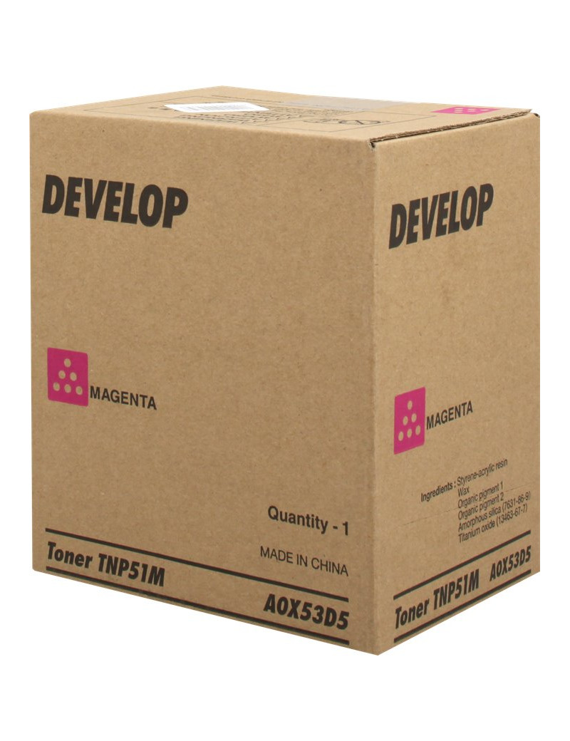 Toner Originale Develop TNP51M A0X53D5 (Magenta 5000 pagine)