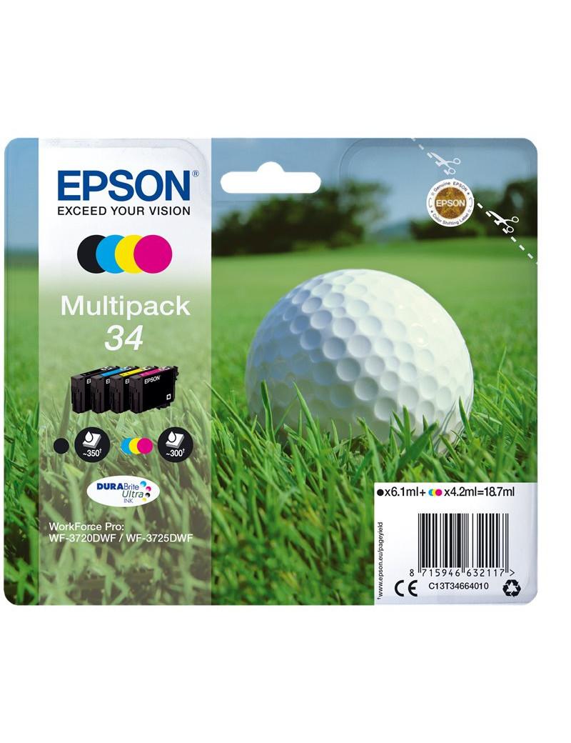 Multipack Cartucce Originali Epson T346640 34 (Nero e Colori)