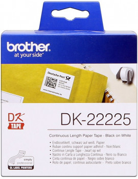 Nastro Originale in Carta DK-22225 Brother - 38 mm x 30,48 m (Bianco)