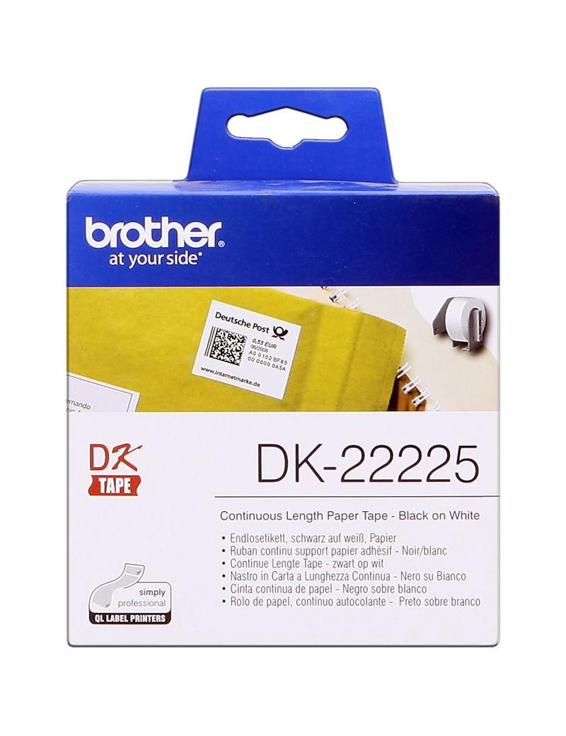 Nastro Originale in Carta DK-22225 Brother - 38 mm x 30,48 m (Bianco)