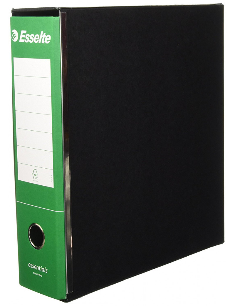 Registratore Essentials G73 Esselte - Commerciale - Dorso 8 - 23x30 cm - 390773180 (Verde Conf. 6)