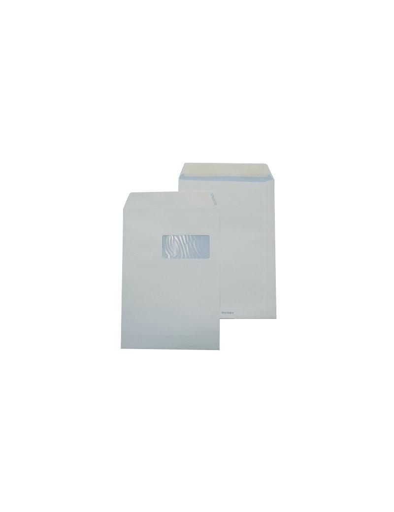 Buste Commerciali Pigna - 11x23 cm - Taglio Dirtto con Strip - Con Finestra (Bianco Conf. 500)