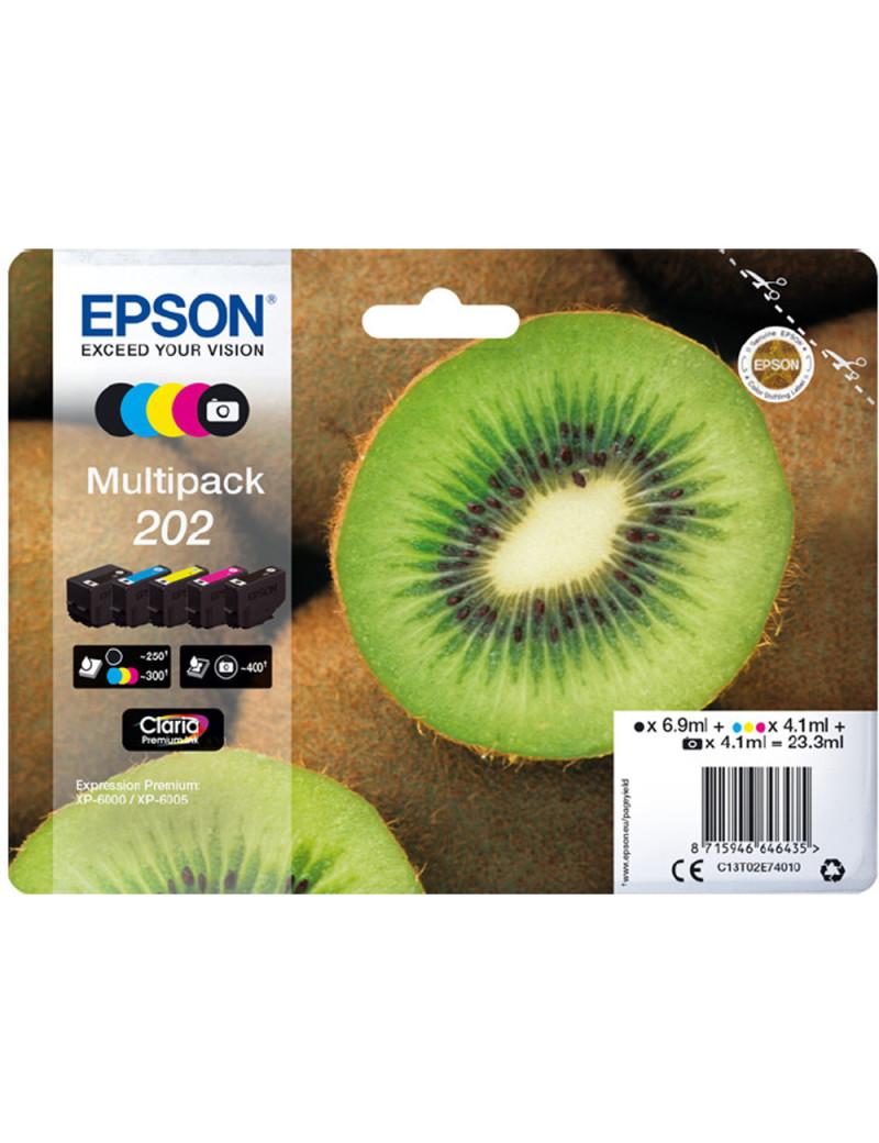 Multipack Cartucce Originali Epson T02E740 202 (Nero Ciano Magenta Giallo 300 pagine)