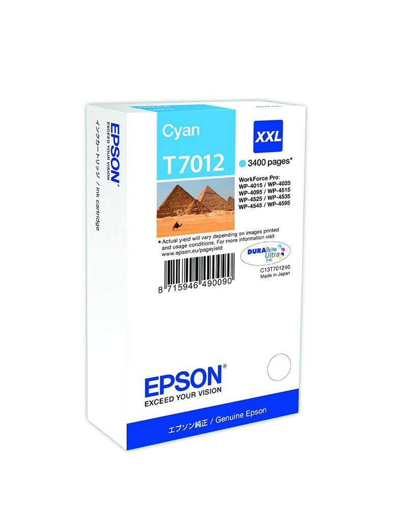 Cartuccia Originale Epson T701240 (Ciano 3400 pagine)