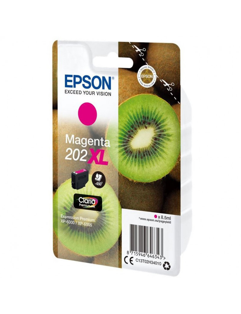 Cartuccia Originale Epson T02H340 202XL (Magenta 650 pagine)