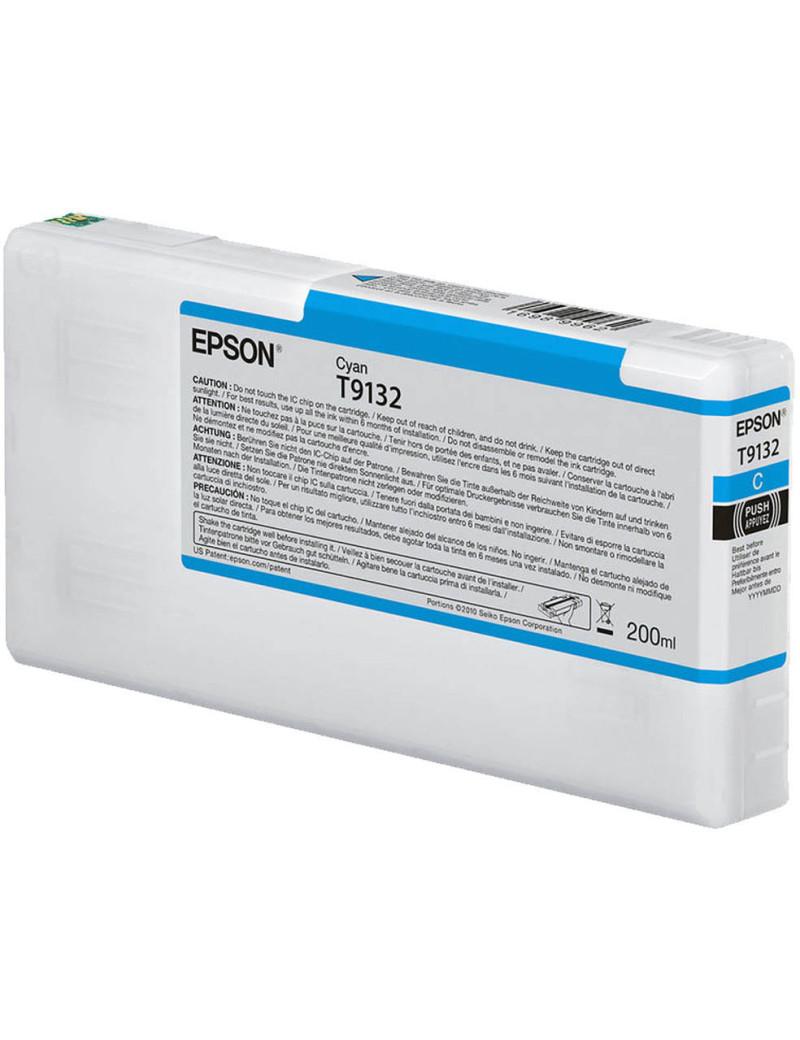 Cartuccia Originale Epson T913200 T9132 (Ciano 200 ml)