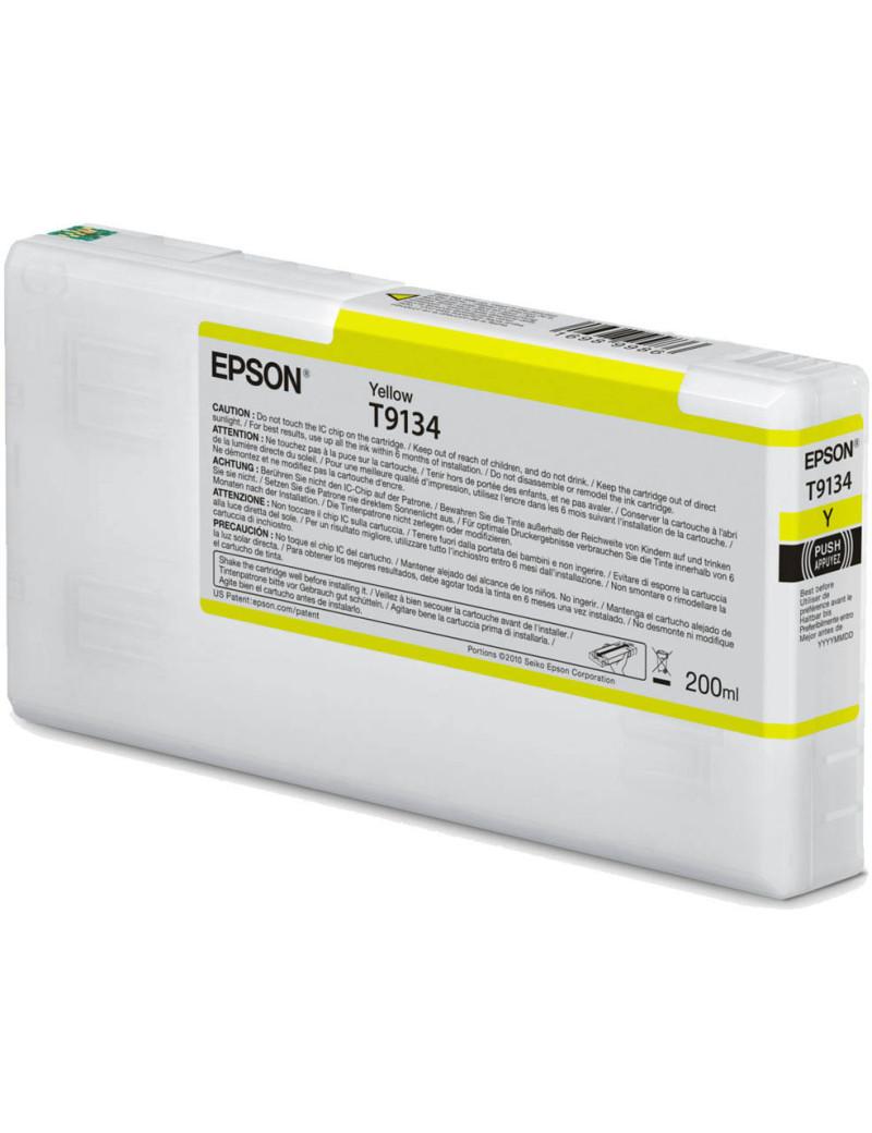 Cartuccia Originale Epson T913400 T9134 (Giallo 200 ml)