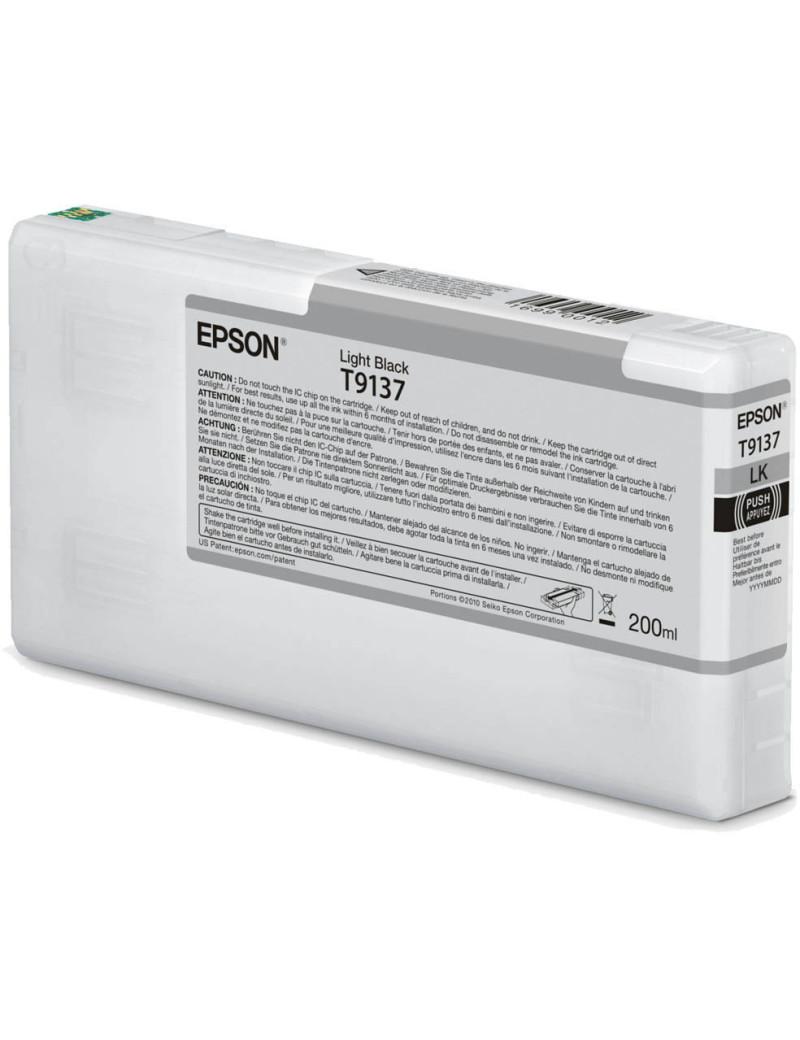 Cartuccia Originale Epson T913700 T9137 (Nero Chiaro 200 ml)