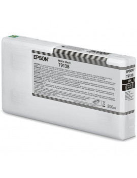 Cartuccia Originale Epson T913800 T9138 (Nero Opaco 200 ml)