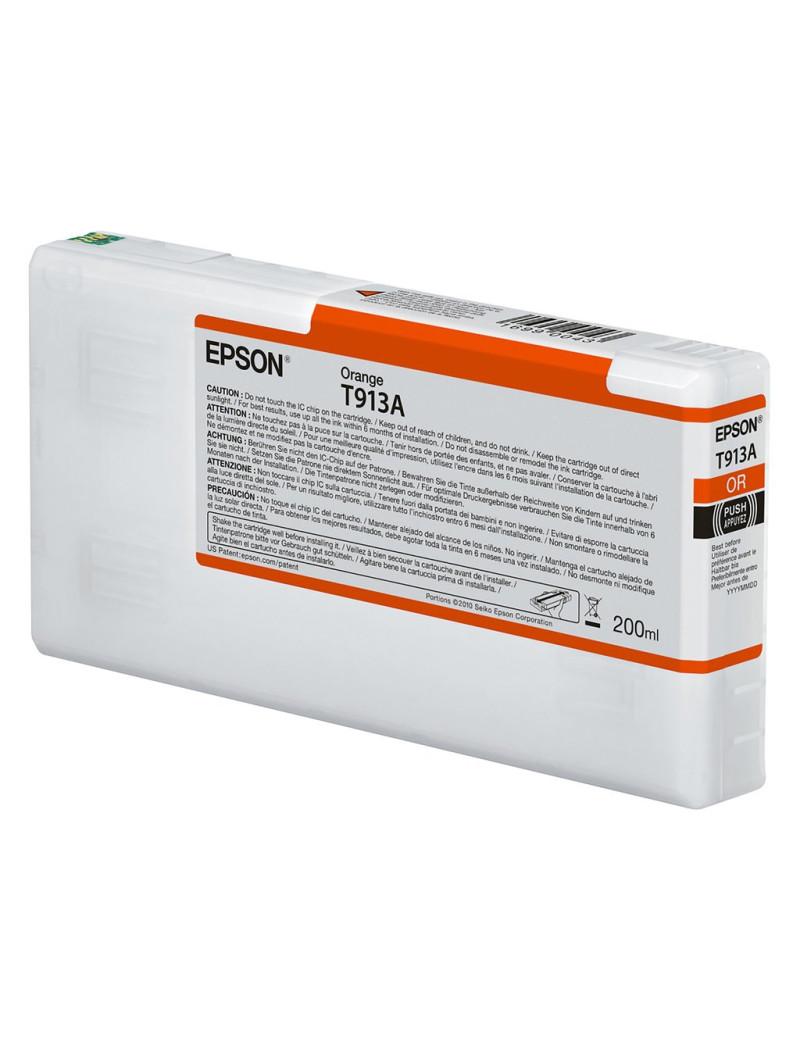 Cartuccia Originale Epson T913A00 T913A (Arancione 200 ml)