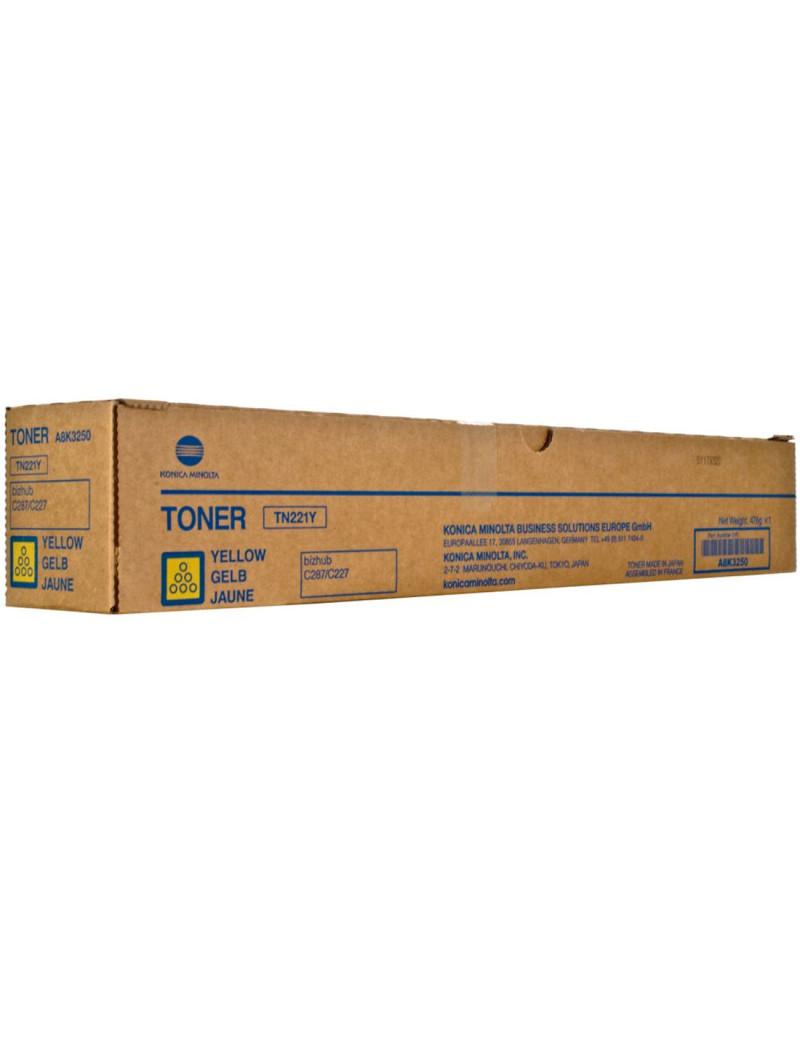 Toner Originale Konica Minolta A8K3250 TN221Y (Giallo 21000 pagine)